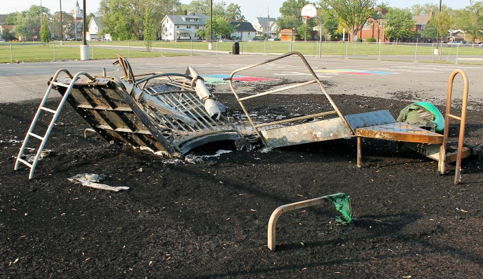 AKES playground burned to ground
