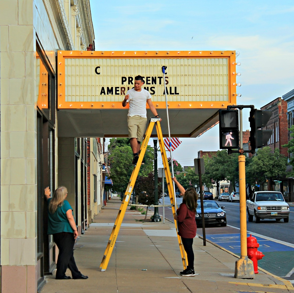 changing of the marquee