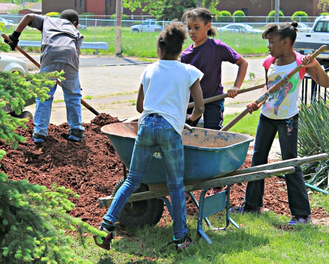 Pride Day S.M.B.C. Young Motivation Girls Club mulch