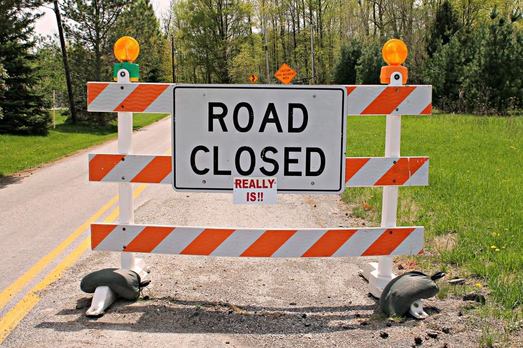 road closed really