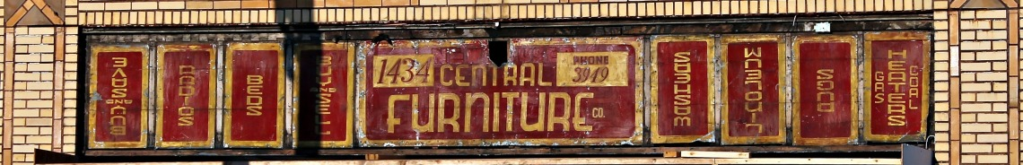 central furniture sign right side up