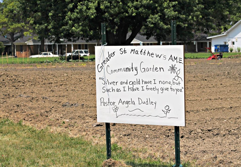 community garden Greater St Matthews AME