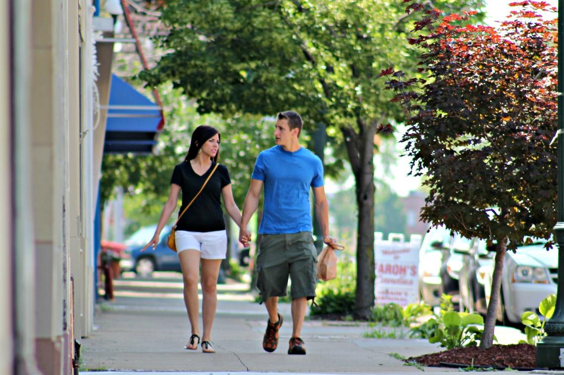 downtown stroll