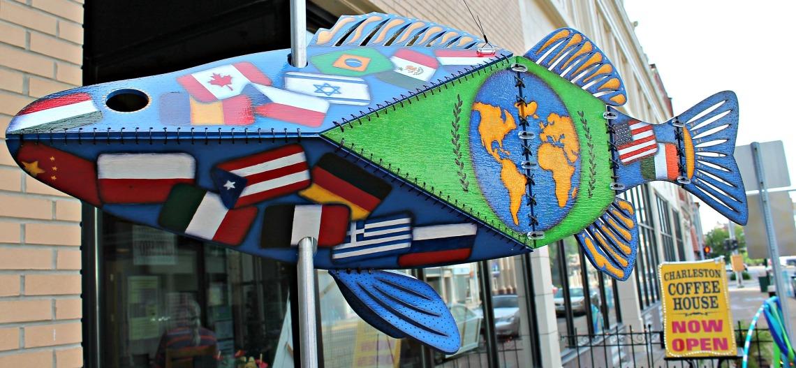 Follow the Fish artSHop Charleston Coffee House 1