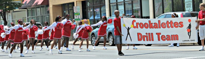 Juneteenth Parade Crookalettes Drill Team
