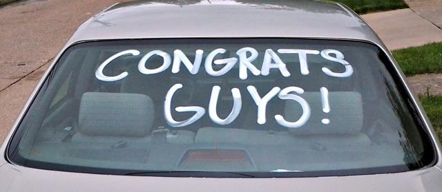 congrats guys