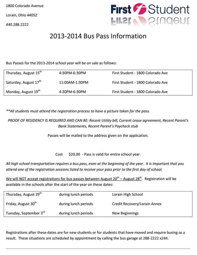 bus pass info