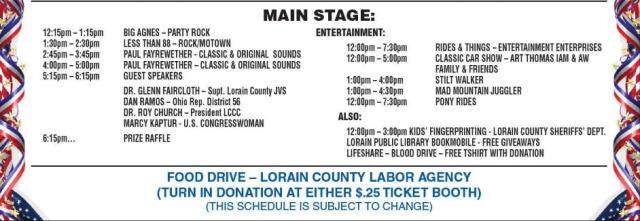 labor fest schedule
