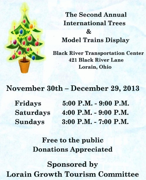 International trees and trains display 2013
