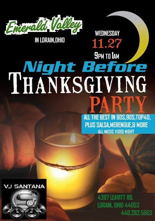night before thanksgiving party 112713
