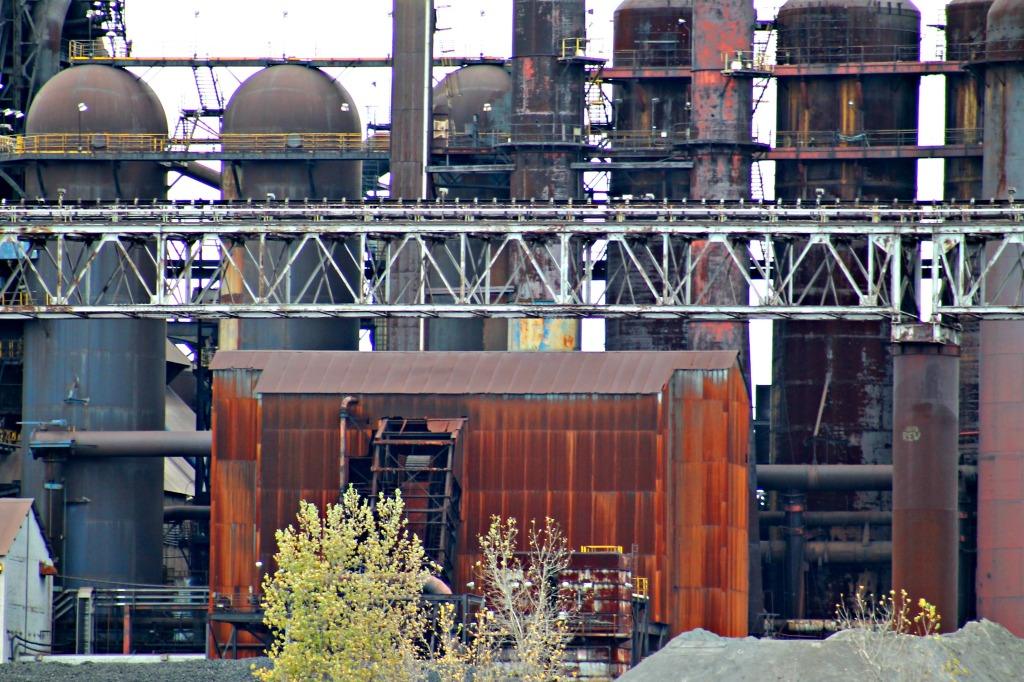 steel mill scenery