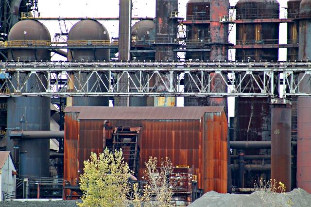 steel mill scenery