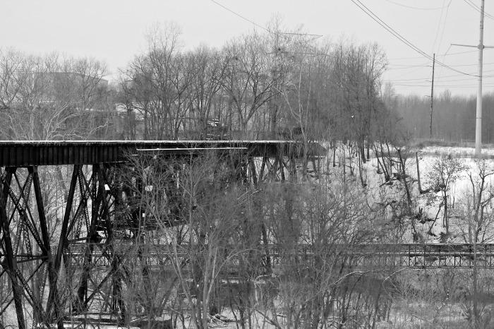 black and white bridges