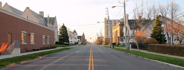 Reid Avenue streetscape