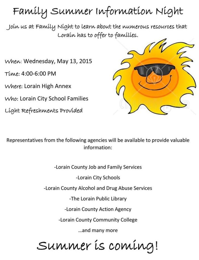 051315 Family Summer Information Night