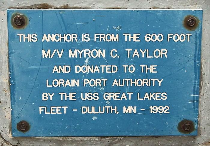 myron c taylor anchor plaque Lorain 052515