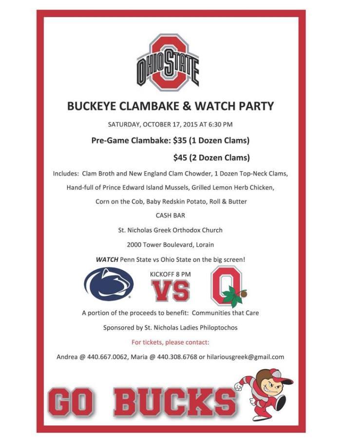clambake fundraiser 101715