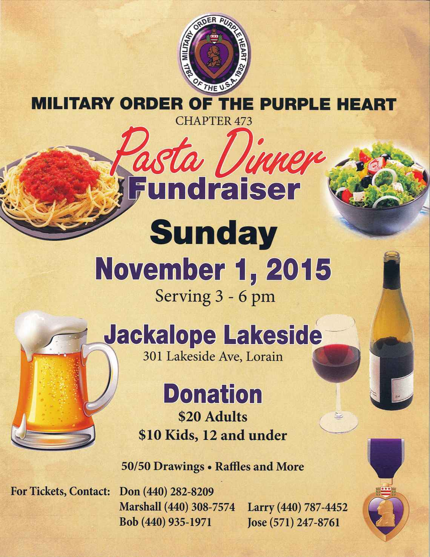 110115 purple heart spaghetti dinner