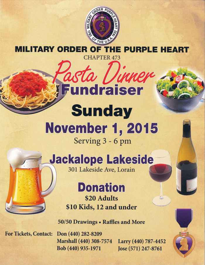 110115 purple heart spaghetti dinner