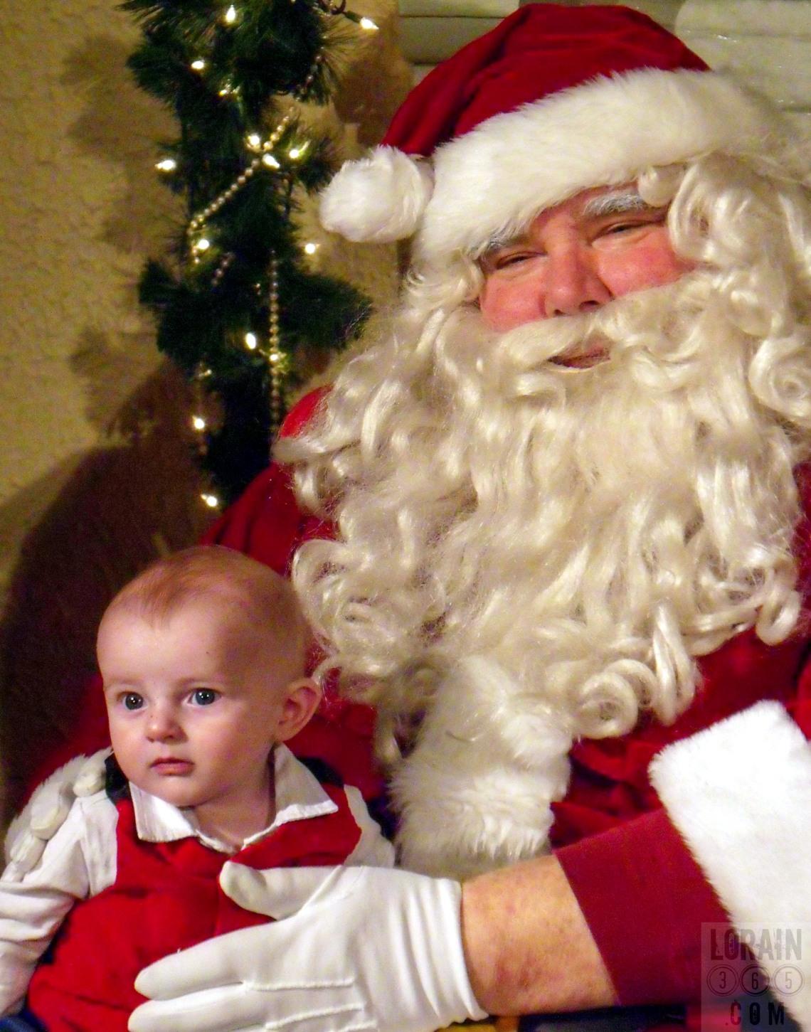 Gabe meets Santa 121209