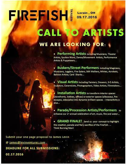 FireFish Call To Artists 2016
