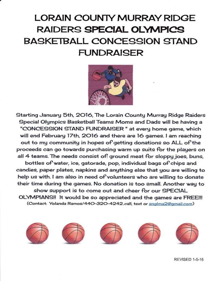 Murray Ridge Baketball Fundraiser