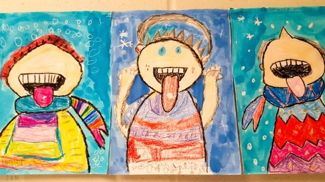 catching snowflakes art 031516-1