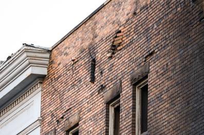Fire damage, NE corner