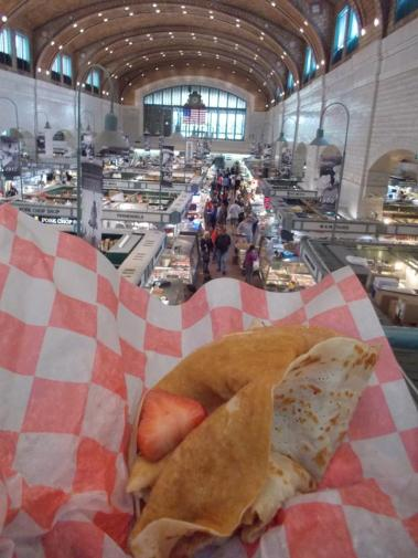 street crepes at the West Side Market TGreer